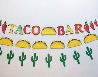 Taco banner, taco bar, tacos, taco party, cactus banner, taco decoration, cactus decoration, cinco de mayo, taco about a party, taco Tuesday