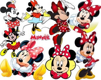 BEST collection of 300 Disney's MINNIE MOUSE Clipart - 300 high quality Minnie Mouse clipart - 300 beautiful Graphics !!! - 4 Digital Papers
