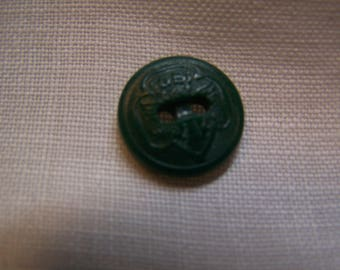 """Vintage Girl Scout 5/8"""" Button, Kelly Green"""
