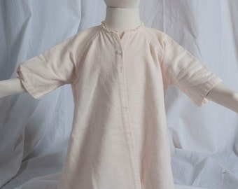 1930s or 40s infant flannel robe. Not fancy, homespun, cottage chic, simple style, traditional, baby, doll clothes.