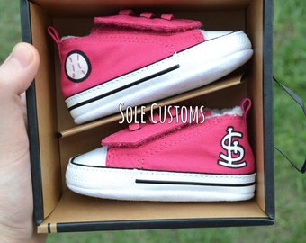 CLEARANCE! Custom Converse - Infant St. Louis Cardinals Shoes