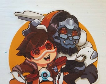 TRACER and WINSTON Sticker