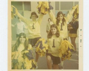 Vintage Snapshot Photo: Period One Cheerleaders, November 1969 (612533)