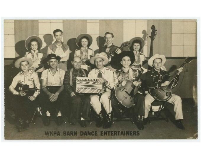 WKPA Barn Dance Entertainers: 1942 RPPC Pittsburgh PA Photo Postcard (73555)