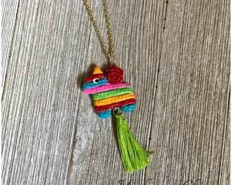 Piñata Charm Tassel Necklace