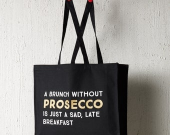 Shopper bag - Mothers day gift - prosecco gift - shopper tote - prosecco bag - tote bag - shopping bag - cotton tote - reusable shopper bag