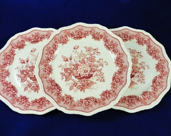 Masons Ironstone Dinner Plates, Ascot Pattern, 3 Available Plates, Made in England
