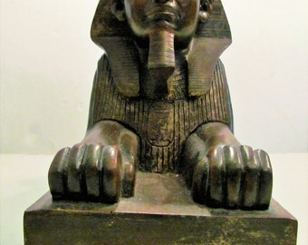 Vintage King Amenemmes II From Tanis 1900 B C Sphinx Collectible