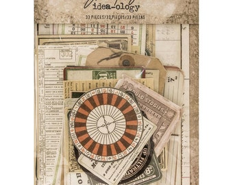 COLLECTOR EPHEMERA  by Tim HOLTZ  - 33 PIECEs per pack   New and In Stock Now !!