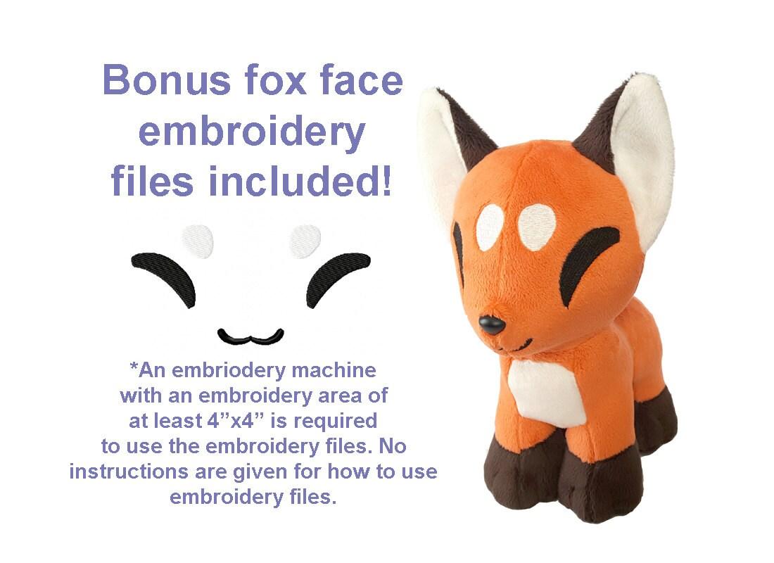 Pdf Sewing Pattern Cute Chibi Fox Stuffed Animal Plush