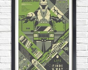 Jurassic Park - 1993 - 19x13 Poster