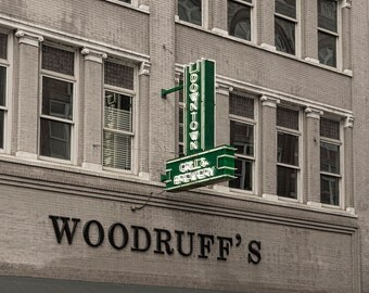 Historic Knox Downtown Grill & Brewery Marquee Restaurant Sign Color Landmark City Knoxville TN Tennessee Americana Photo Art Print