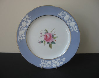 "Vtg Copeland's China SPODE ""MARITIME ROSE"" Lilac Embossed Dinner Plate Pink Rose"