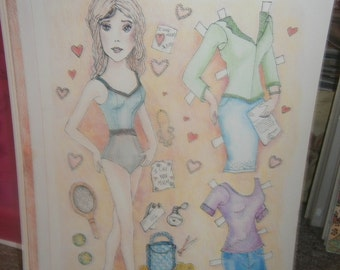 Working Mother Paper Doll set