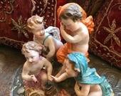 ANTIQUE PORCELAIN CHILDREN European Figurine, Exquisite Details
