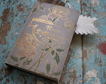 """Hollow Book Treasure Box Sherlock """"Roses"""", Recycled Book Box"""