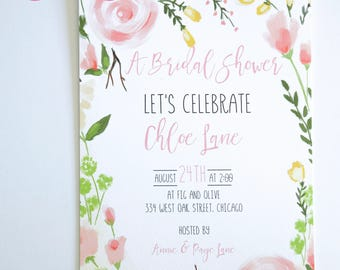 GENERAL PARTY INVITATIONS  - Floral Themes