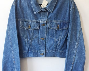Wrangler Cropped Jean Jacket Size Medium Deadstock 1990s