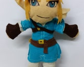 Zelda Breath of The Wild Link plush