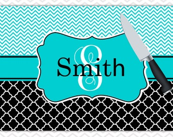 Personalized Cutting Board Christmas Gifts for Mom, Gifts for Cooks Monogrammed Gift Glass Cutting Board Cutting Boards