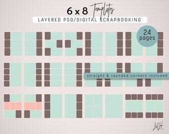 6x8 TEMPLATES for Digital Scrapbooking