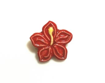 Hibiscus Flower Pin, Red Flower, Pink Flower, Flower Pin, Party Favor, Hawaiian Flower Jewelry, Luao Party Favors