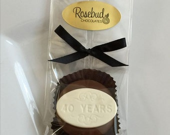 """12 Chocolate Number """"40 Years"""" Oreo Cookie Favors 40th Forty Years Birthday Party Candy Anniversary"""
