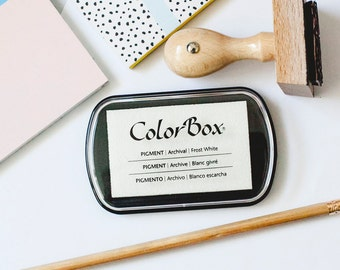 ColorBox White Ink Pad, Rubber Stamp Ink, Stamp Pad, Stamping Ink, Inker