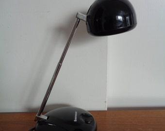 """Vintage Mid Century Desk Lamp by """"TENSOR"""" in BLACK"""