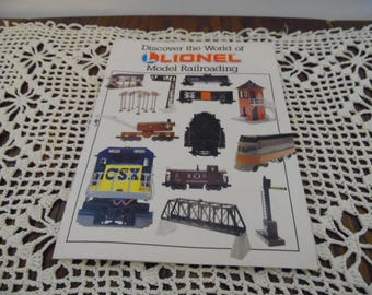 1993 Lionel Trains Model Railroading Small Catalog - Lionel Tains - California Zephyr - CSX Disel Engine