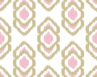 Java Gold/Pink Removable Wallpaper