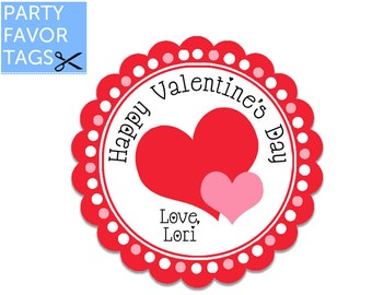 Valentines Day Favor Tags - Valentine Favor Tags, Valentines Day Tags, Valentine Tags, Printable Favor Tags