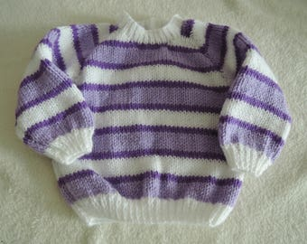 Baby Toddler Cardigan Jacket Unique Hand Knitted 19-20 Inch 6-9 Months
