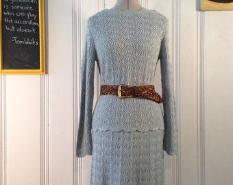 1980's Evanna Sweater & Skirt Set with Belt