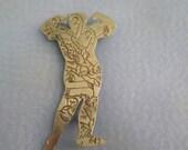 SALE - 25% OFF Vintage Strongman Brooch - Vintage Tattooed Man Brooch - Figure of a Man Brooch - Man Figural Brooch - Figural Brooch - Tatto