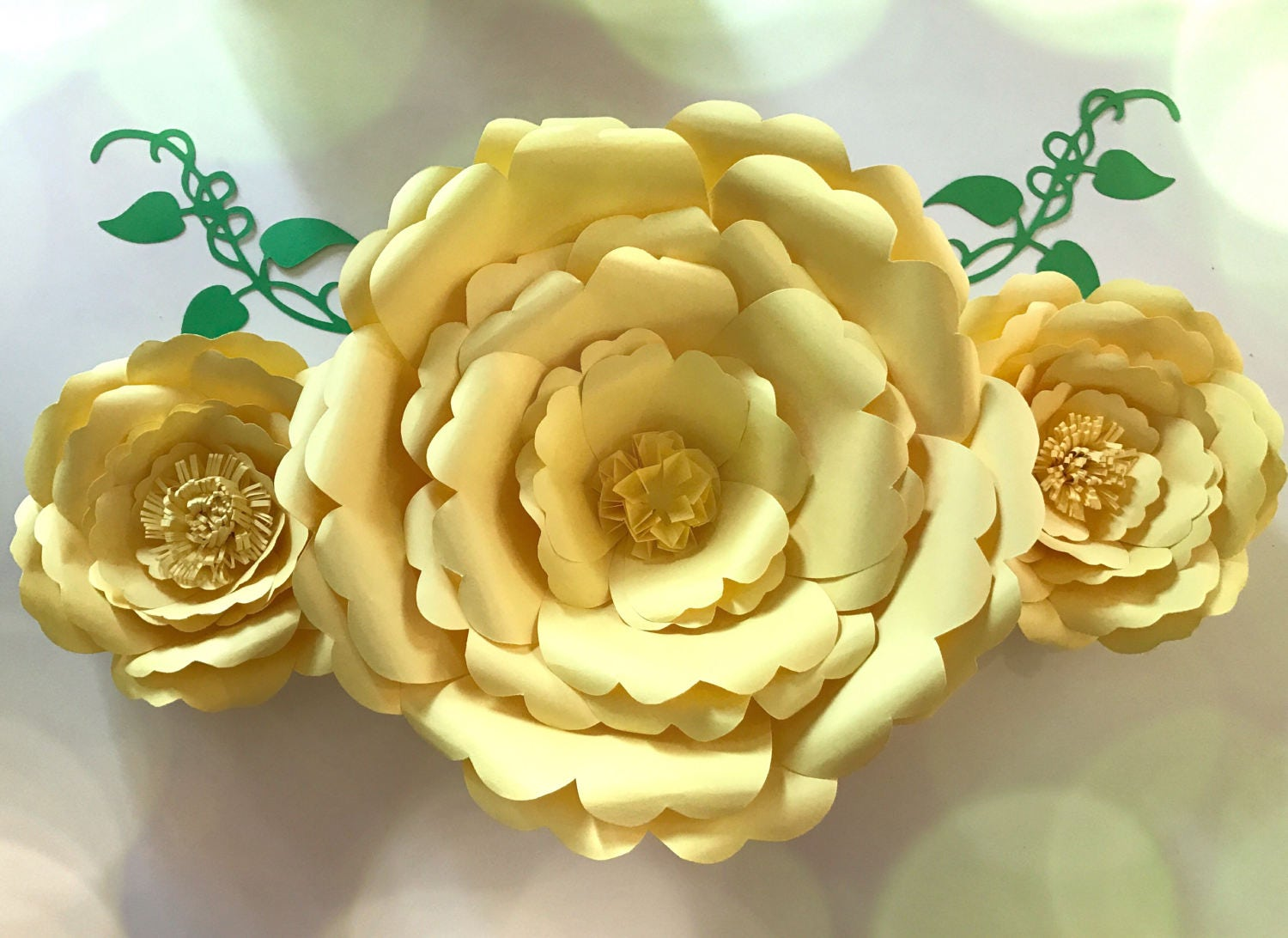 Wall Decor - Paper Flowers in custom colors [E10231018401024612M ...