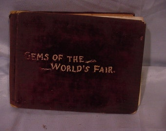 "Photo Picture Book- ""Gems of the Worlds Fair"" (1880s)"
