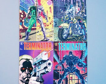 Vintage 1990 Terminator Number 1, 2, 3 and 4 Good Condition Dark Horse Comics