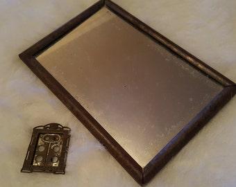 2 Unique Rustic Antique Metal Frames- 1 Mirror-1 inch and 3.5 x 5