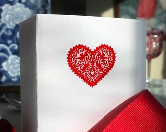 Heart Letterpress Card Set