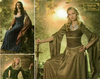 Simplicity Costume Pattern 4940 Andrea Schewe Medieval Renaissance Fairy Princess Cosplay UNCUT Size N5 (10, 12, 14, 16, 18)