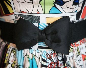 Black Bow Belt