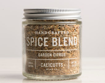 Garden Citrus - Handcrafted Spice Blend - 2.4 ounces in Glass Jar, All-Natural and Gluten Free
