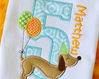 Doggie Birthday Custom Tee Shirt - Customizable 90
