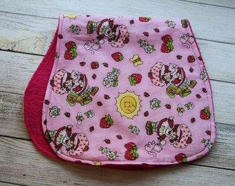Strawberry Short Cake Burp Cloth