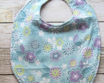 Purple/Blue Flower Bib