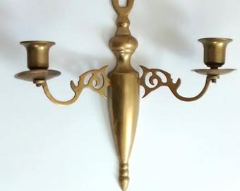 Brass Candle Sconce