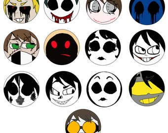 Creepypasta Buttons