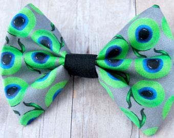 Jacksepticeye Inspired Bow // Internet, Video Game, Green, Eyeball, Gamer