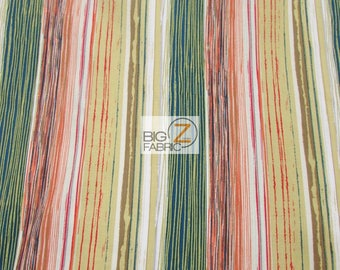 100% Cotton Fabric By P & B Textiles - Fresh Pick Stripes Multi - Sold By The Yard (FH-3233) DIY Clothing Accessories Decor